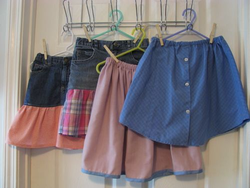 Repurposed skirts